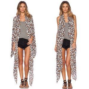 Amuse Society Brooklyn Kimono Leopard Revolve